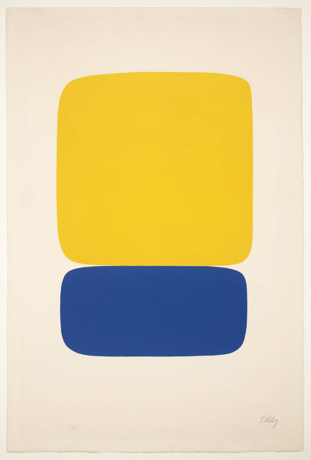 Yellow over Dark Blue, 1964-5